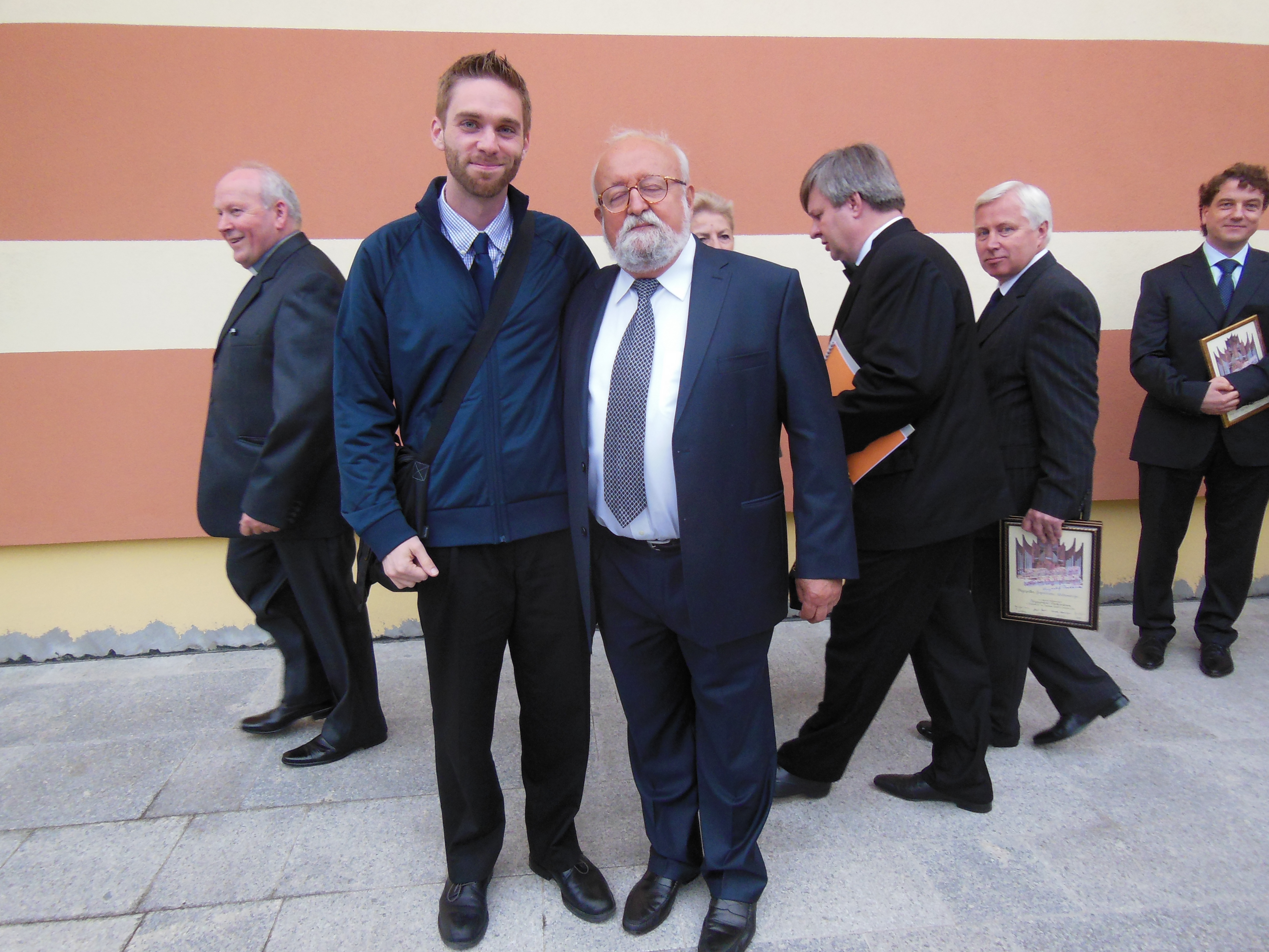 Daniel with Maestro Penderecki after July 4 performance, 2012