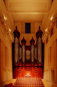 C.B. Fisk, Opus 109 organ, Edythe Bates Old Organ, Shepherd School of Music.