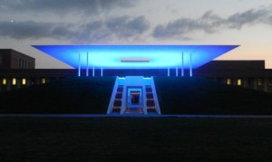 Turrell Skypace at Rice University, venue of the premiere of Nebula.