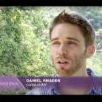 "Daniel's Trois Chansons Project is steadily underway: above Daniel discusses the project  in an interview for Brazilian t.v. program ""Harmonia"", filmed at Inhotim, Brazil, minutes before the world premiere."
